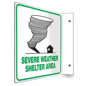 Severe Weather Shelter Sign - Projection