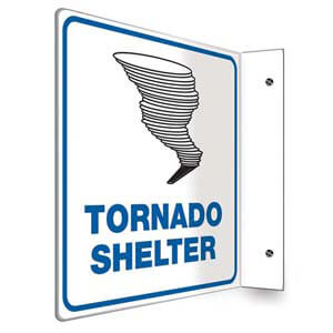 Tornado Shelter Sign - Projection