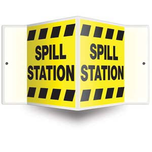 Spill Station Sign - 3D Projection