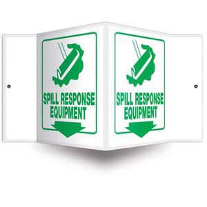 Spill Response Equipment Sign - 3D Projection