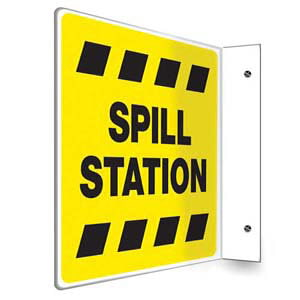 Spill Station Sign - Projection