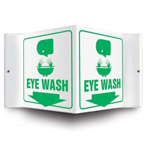 Eye Wash Sign - 3D Projection
