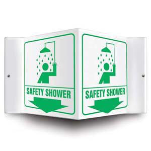 Safety Shower Sign - 3D Projection