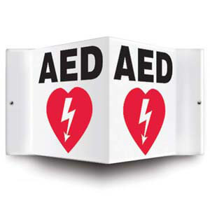 AED Sign - 3D Projection