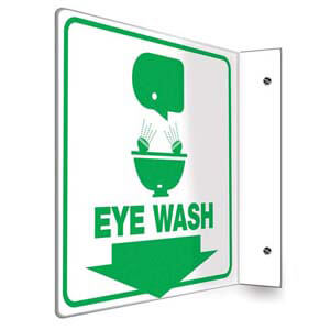 Eye Wash Sign - Projection