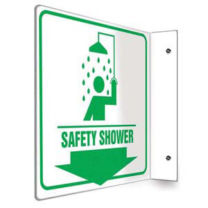 Safety Shower Sign - Projection