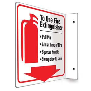 To Use Fire Extinguisher Sign - Projection