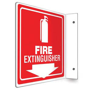 Fire Extinguisher Sign - Projection