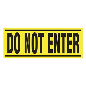Do Not Enter - Blockade X-Barricade Changeable Message