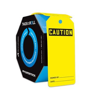 Caution: Blank - OSHA Safety Tag: Tags By-The-Roll