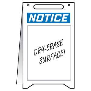 Notice: Blank - OSHA Folding Sign