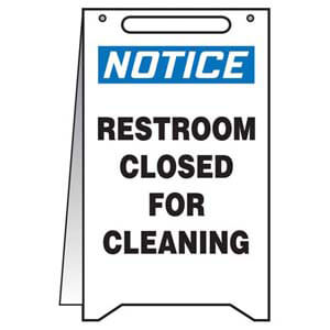 Notice: Restroom Closed For Cleaning - OSHA Fold-Up