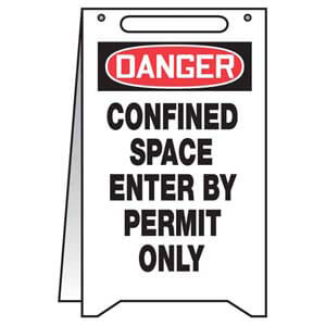Danger: Confined Space, Enter By Permit Only - OSHA Folding Sign