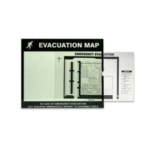 Glow-In-The-Dark Emergency Evacuation Map Holder
