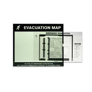 Glow-In-The-Dark Emergency Evacuation Map Holder