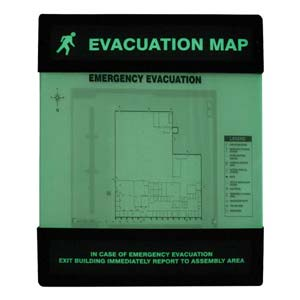 Glow-In-The-Dark Evacuation Map Unassembled