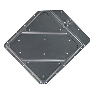 Clipped Corners Placard Holder With Back Plate