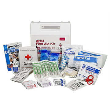 First Aid Kit: 25-Person Class A ANSI Z308.1-2015