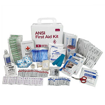First Aid Kit: 50-Person Class B ANSI Z308.1-2015