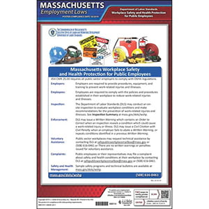 Massachusetts Workplace Safety & Health for Public Employees Poster