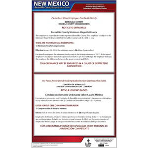 New Mexico / Bernalillo County Minimum Wage Poster