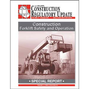 Special Report - Construction Forklift Safety and Operation