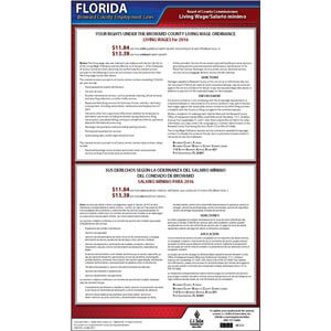 Florida / Broward County Living Wage Poster