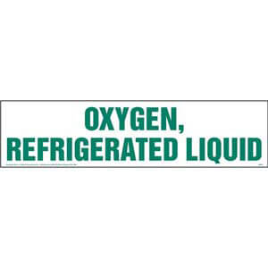 Oxygen, Refrigerated Liquid Sign
