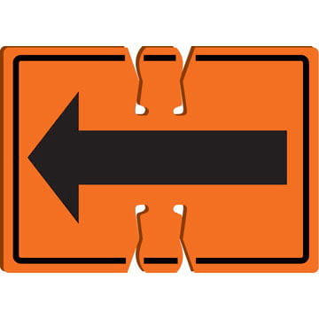Right/Left Arrow - Traffic Cone Sign