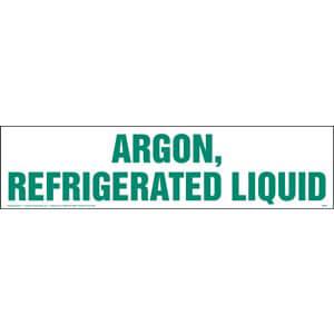 Argon, Refrigerated Liquid Sign