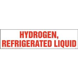 Hydrogen, Refrigerated Liquid Sign