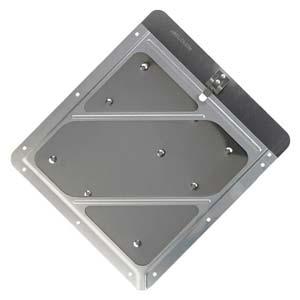 Rivetless Aluminum Wide-Edge Placard Holder w/Back Plate
