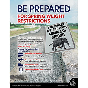 Weight Restrictions - Motor Carrier Safety Poster