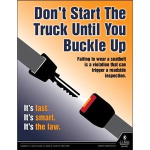 Buckle UP - Transportation Safety Risk Poster