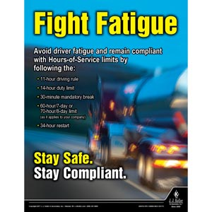 Fight Fatigue - Transportation Safety Poster