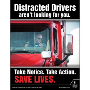 Distracted Drivers - Transportation Safety Poster
