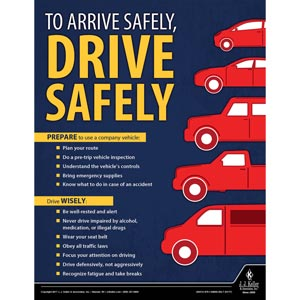 Drive Safely - Workplace Safety Training Poster