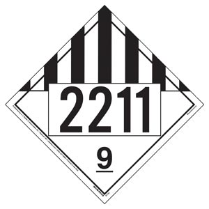 2211 Placard - Class 9 Miscellaneous