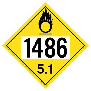1486 Placard - Division 5.1 Oxidizer