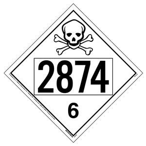 2874 Placard - Division 6.1 Poison