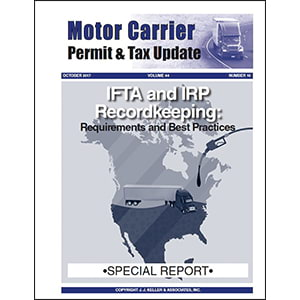 Special Report - IFTA and IRP Recordkeeping
