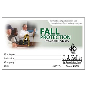 Fall Protection for General Industry - Wallet Card