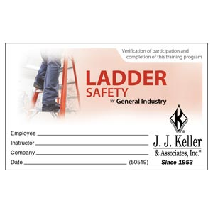 Ladder Safety for General Industry - Wallet Card