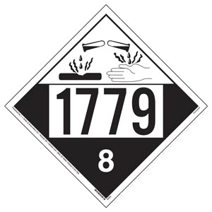 1779 Placard - Class 8 Corrosive