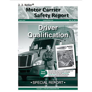 Special Report - Driver Qualification