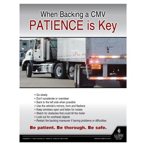 When Backing a CMV - Driver Awareness Safety Poster