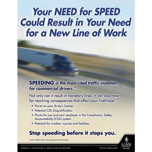 Your Need For Speed - Motor Carrier Safety Poster