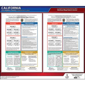 California / Los Angeles County Minimum Wage Poster