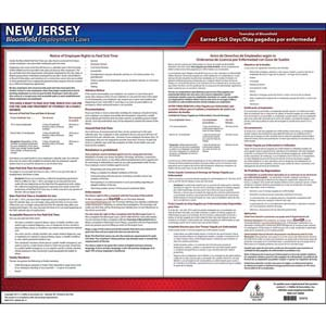 New Jersey / Bloomfield Paid Sick Leave Poster