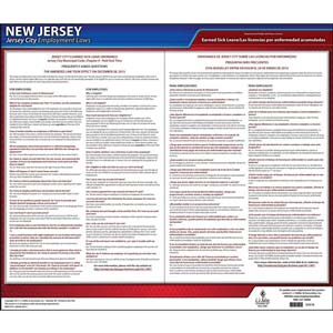 New Jersey / Jersey City Paid Sick Leave Poster